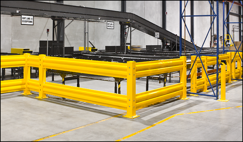 us mezzanines rack inc guard rail bollards protect
